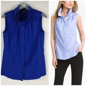 Lafayette 148 NY Annalyse Button Up Blouse
